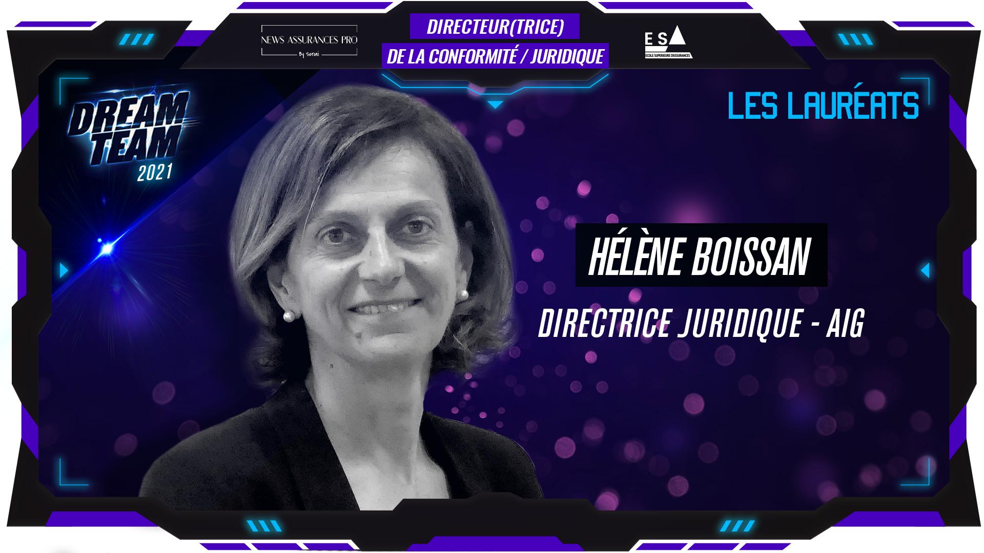Hélène Boissan au poste de Directrice de la conformité / Juridique