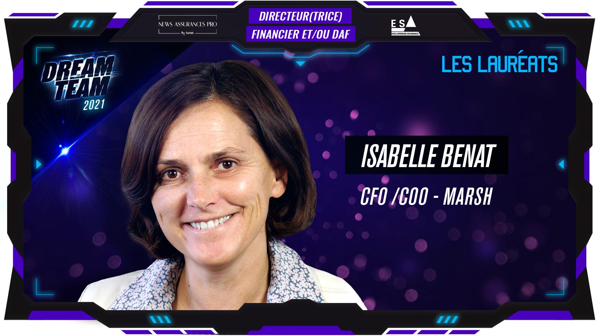 Isabelle Benat au poste de Directrice Financier et/ou DAF