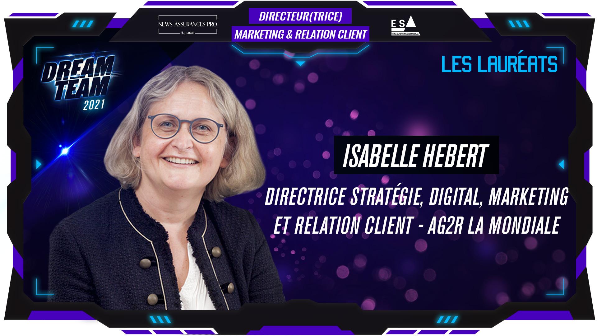 Isabelle hébert au poste de Directrice Marketing et Relation Client