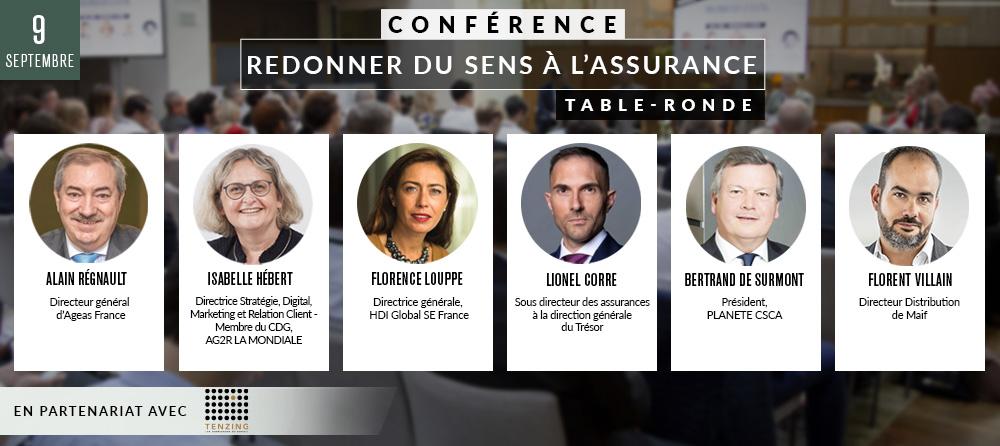 Conférence 1 : « Redonner du sens à l'assurance » (Table ronde)