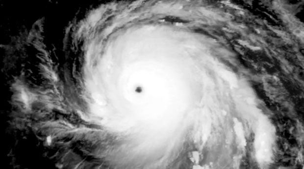 l'oeil de l'ouragan Irma