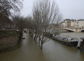 La crue de la seine à Paris