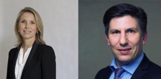 Catherine Kerrevel et Alexandre Morillon de La Banque Postale