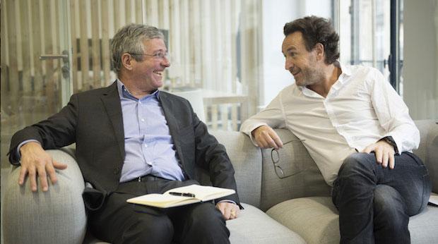 Cyrille de Montgolfier et Olivier Jailllon, respectivement directeur général et président de la Parisienne Assurances
