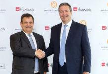 Olivier Mesnard, directeur général d'Humanis et Thomas Saunier, directeur général de Malakoff Médéric