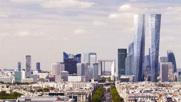 Les tours Hermitage à La Défense