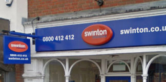 Une agence Swinton en Grande Bretagne