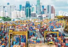 un port de marchandises
