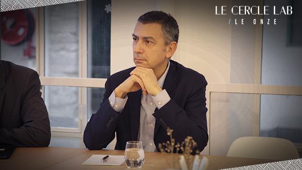 Gabriel Gross lors du club indemnisatiuon du cercle LAB