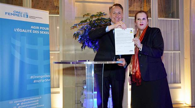 axa signe les principe de l'ONU pour l'empowerment des femmes