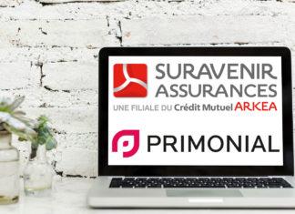 Les logos de Suravenir et Prmonial