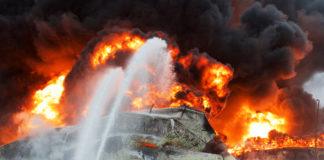 Incendie industriel
