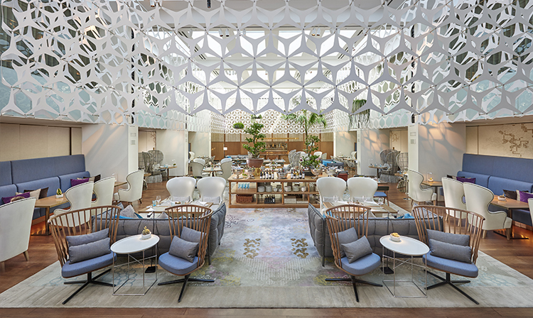 Espace blanc du Mandarin Oriental Barcelona