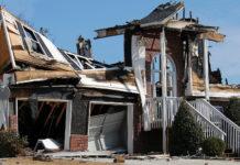 une maison sinistree par un incendie