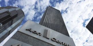 Le building d'Aon a Chicago