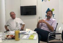 Alain Gianazza, président de la MNT et Laurent Adouard, directeur général