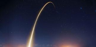 Le décollage d'une fusée