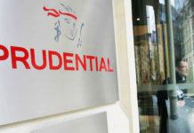 L'entrée du siège social de Prudential.