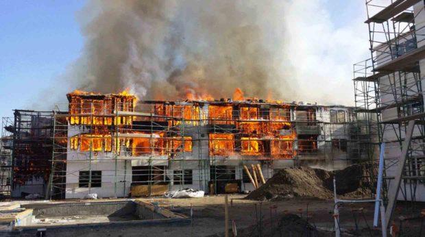 Construction : Incendies et explosions causent les pertes les plus coûteuses