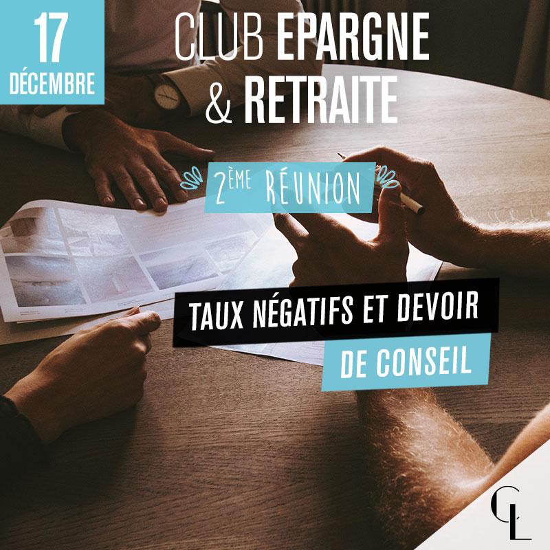 Club Epargne/Retraite - 2ème réunion