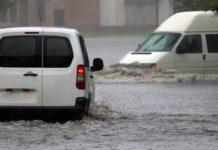 Une rue inondée