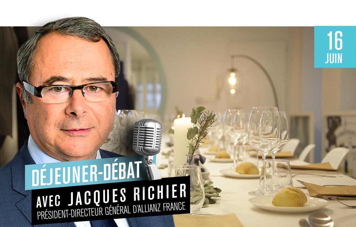 Déjeuner Débat avec Jacques Richier, PDG d'Allianz France