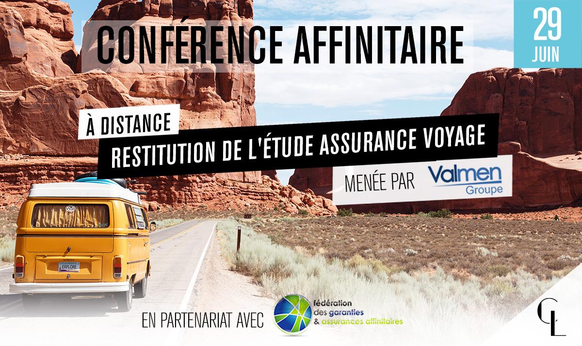 Conférence Affinitaire : Restitution de l'étude Assurance Voyage