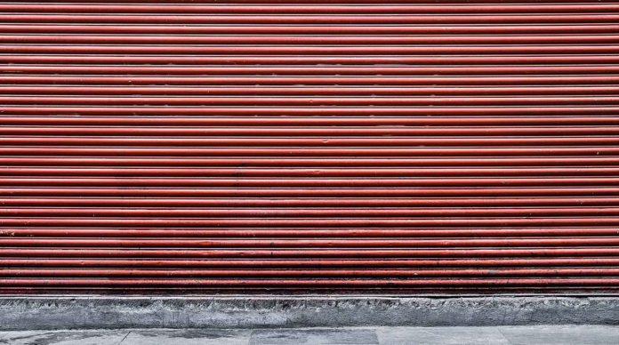Un magasin fermé