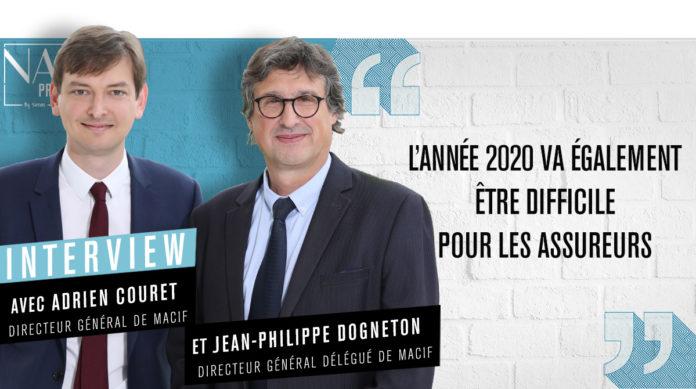 Adrien Couret et Jean-Philippe Dogneton respectivement directeur général et directeur général délégué du groupe Macif