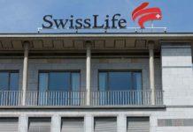 Fronton du siège de Swiss Life à Zurich