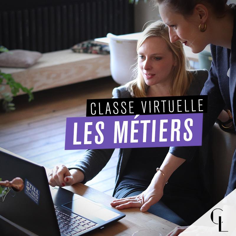 Classe virtuelle : les métiers