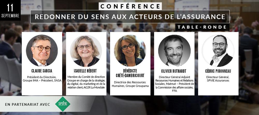 CONFÉRENCE « REDONNER DU SENS AUX ACTEURS DE L'ASSURANCE »