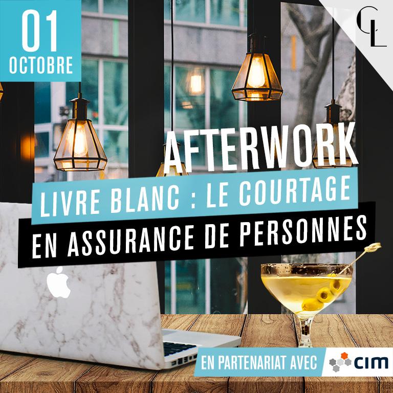 Afterwork Livre blanc avec CIM : Le courtage en assurance des personnes