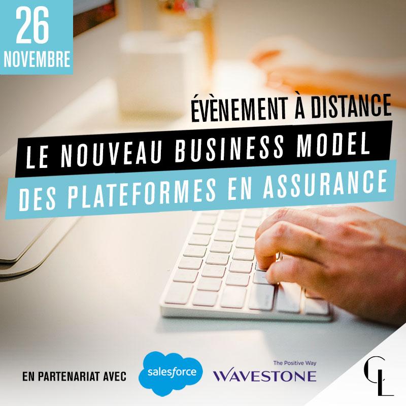 Événement à distance avec Wavestone & Salesforce - Le nouveau business model des plateformes en assurance
