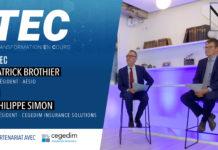 Patrick Brothier, président d'Aésio et Philippe Simon, président de Cegedim Insurance Solutions.