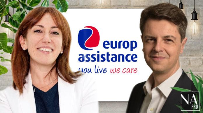Domenica Lista, directrice juridique et Philippe Gervais, directeur financier du groupe Europ Assistance.
