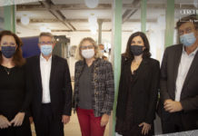 De gauche à droite : Marie-Sophie Houis (PMP Conseil), Roger Mainguy (April), Isabelle Hébert (AG2R La Mondiale), Mariona Vivar (News Assurances Pro) et Gilles-Emmanuel Bernard (Cercle LAB)