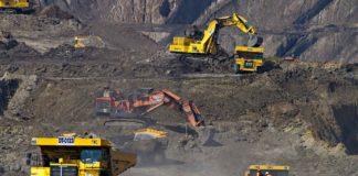 Une mine d'extraction du charbon.