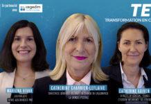 Catherine Charrier-Leflaive, directrice générale adjointe de La Banque Postale en charge de l'assurance et Catherine Abiven, directeur général France de Cegedim IS, ont participé au deuxième épisode de TEC.