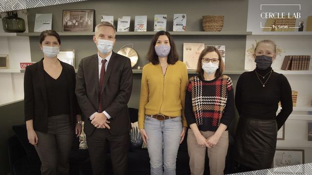 De gauche à droite : Flora Obadia (Tutélaire), Pierre Mayeur (Ocirp), Mariona Vivar (News Assurances Pro), Valérie Gabot (Axa France) et Marie-Sophie Houis (PMP Conseil).