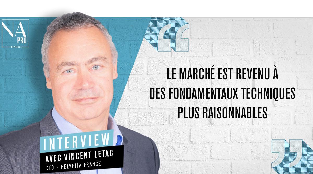 """Vincent Letac: """"Le marché est revenu à des fondamentaux techniques plus raisonnables"""""""