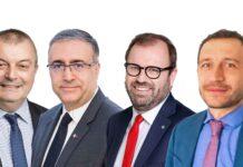 De gauche à droite : François-Marie Geslin, Philippe Da Costa, Benoit Courmont, Luca de Dominicis.