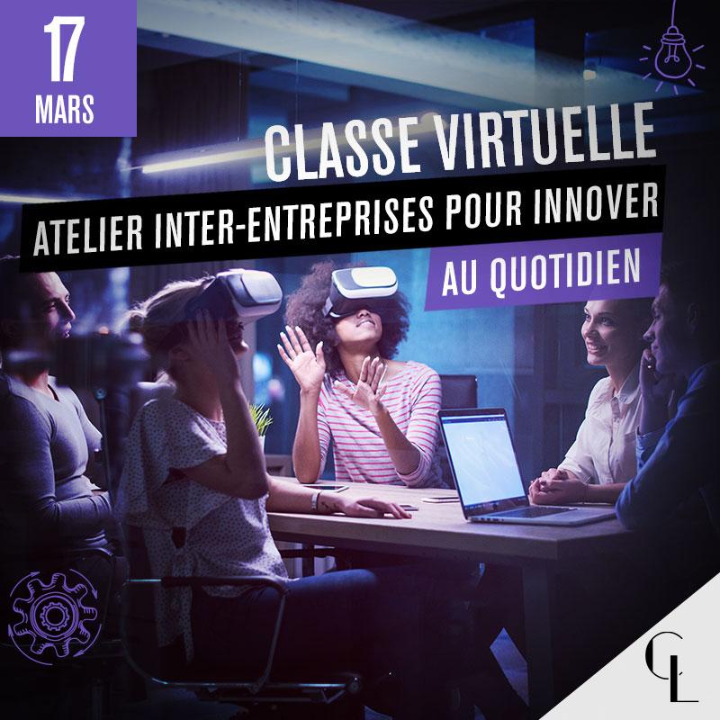 Classe virtuelle : Atelier inter-entreprises pour innover au quotidien - 17 mars