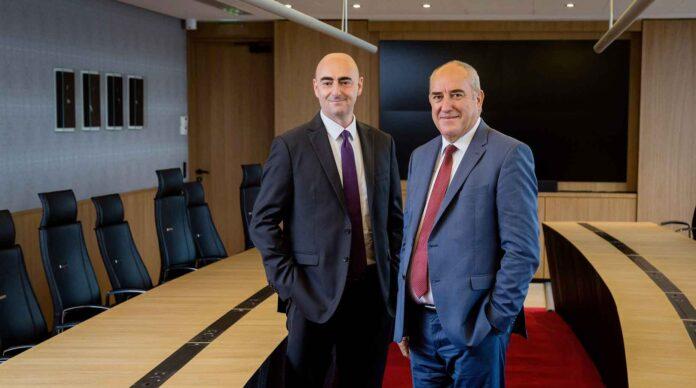 Fabrice Heyries et Roland Berthilier, respectivement directeur général et président du groupe MGEN.