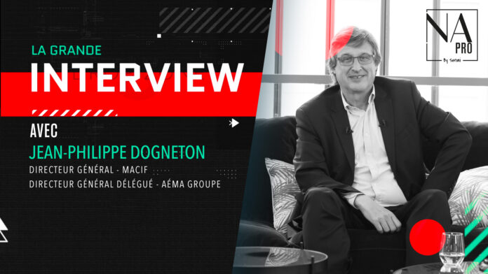 Jean-Philippe Dogneton, directeur général de Macif et directeur général délégué d'Aéma Groupe était l'invité de la grande interview de la rédaction de News Assurances Pro