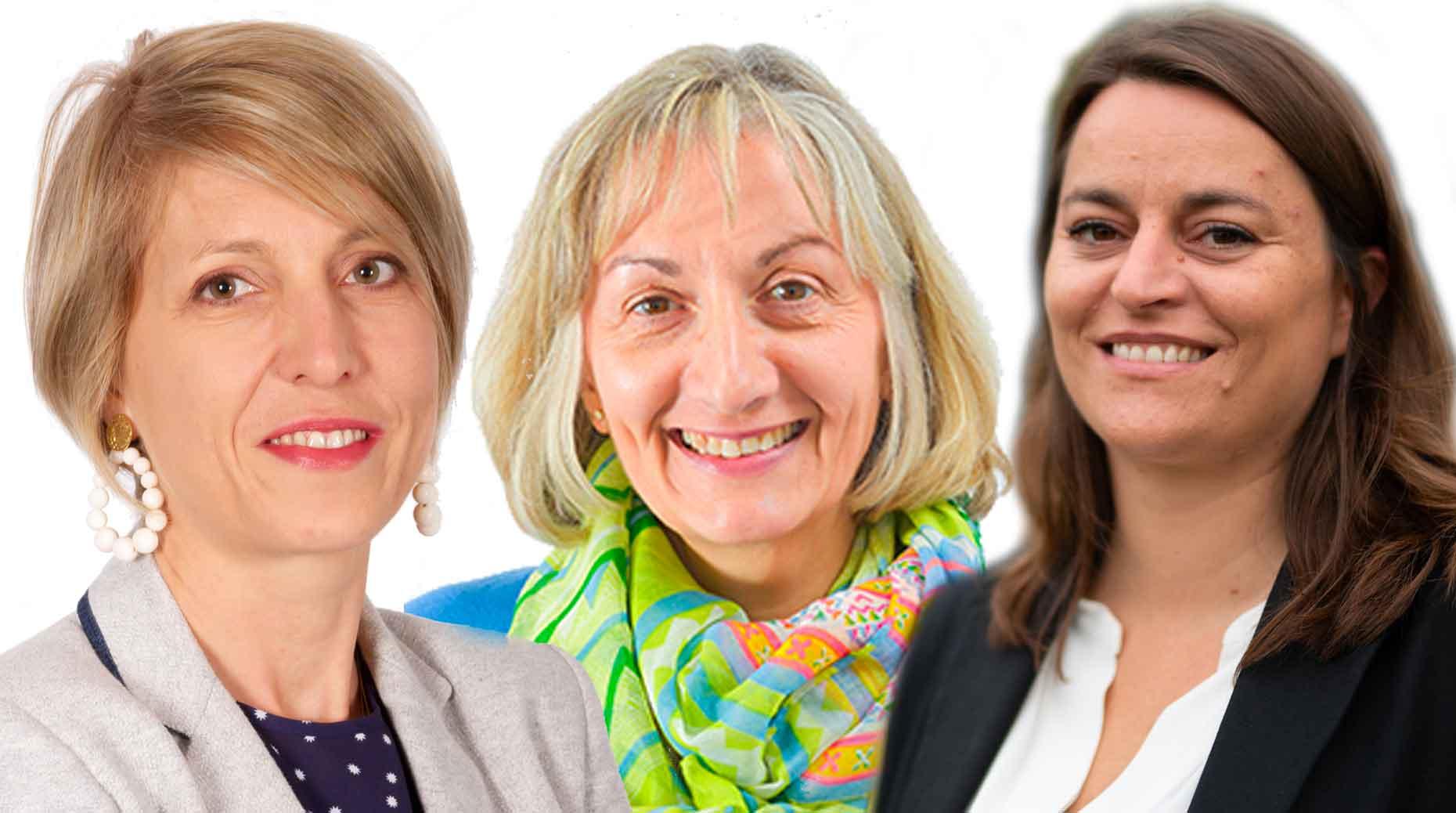 Elodie Alleau, Hélène Texereau et Eva Kapalnis