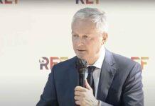 Bruno Le Maire, ministre de l'Economie, des Finances et de la Relance lors de la REF 2021