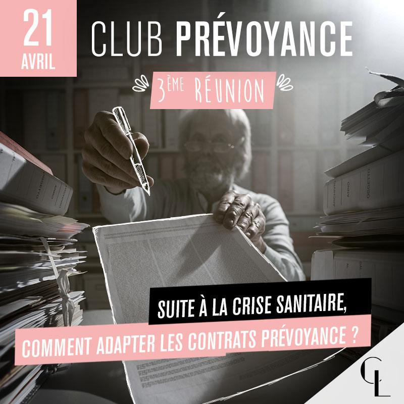Club Prévoyance - 3ème réunion, saison 2021 / 2022