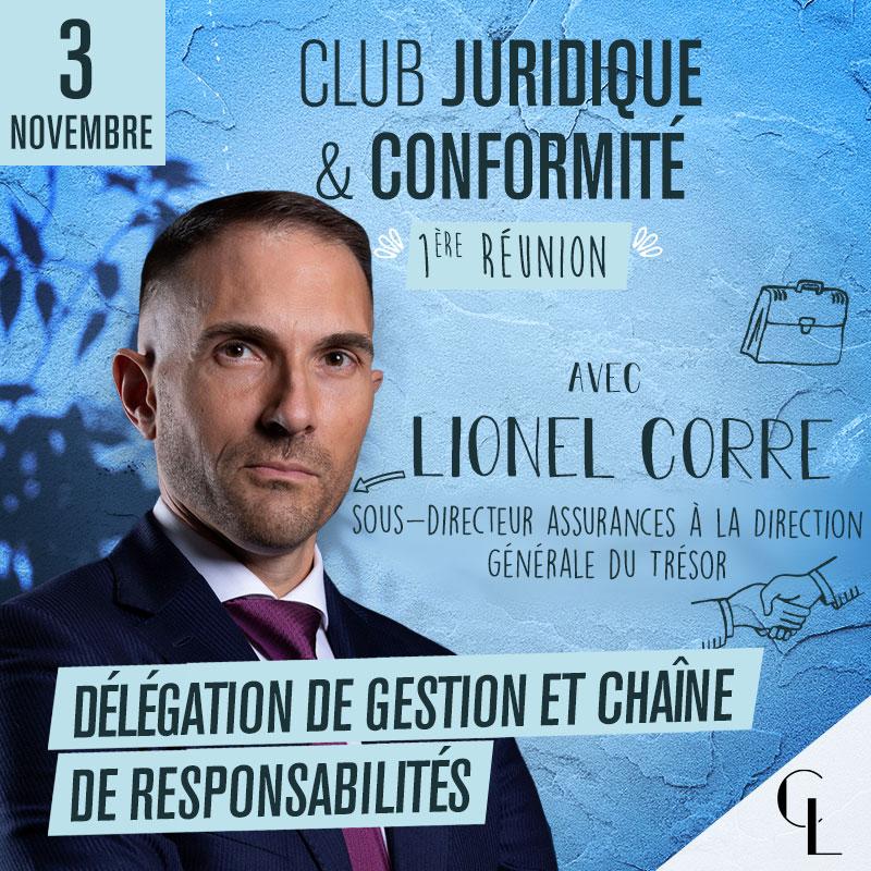 Club Juridique et Conformité - 1ère réunion, saison 2021/2022