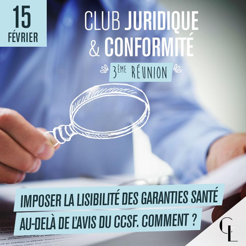 Club Juridique et Conformité - 3ème réunion, saison 2021/ 2022
